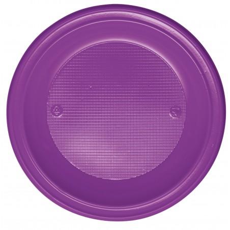Plato de Plastico PS Hondo Violeta Ø220mm (600 Uds)