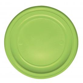 Plato de Plastico Llano Verde PS 220mm (780 Uds)