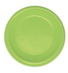 Plato de Plastico Hondo Verde PS 220mm (600 Uds)