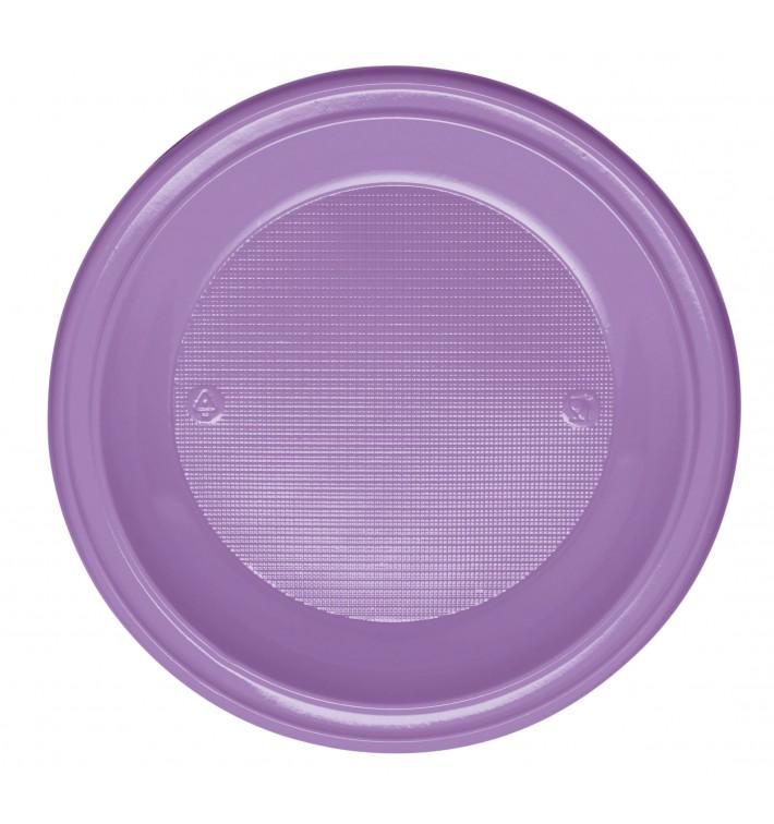 Plato de Plastico PS Hondo Lila Ø220mm (600 Uds)