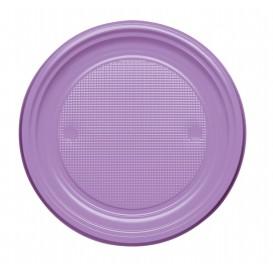 Plato de Plastico PS Llano Lila Ø170mm (50 Uds)