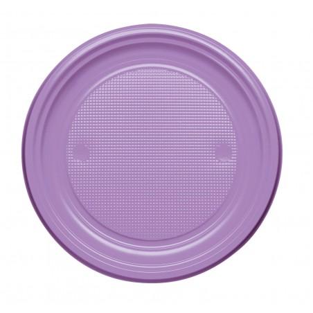 Plato de Plastico Llano Violeta PS 170mm (50 Uds)