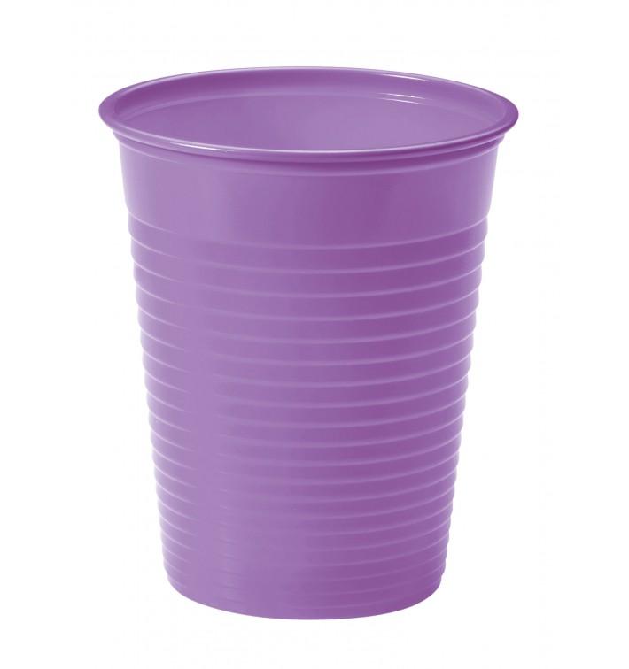 Vaso de Plastico PS Lila 200ml Ø7cm (1500 Uds)