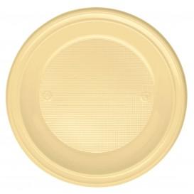 Plato de Plastico Hondo Crema PS 220 mm (30 Uds)