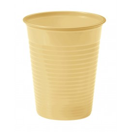 Vaso de Plastico Crema PS 200ml (50 Uds)