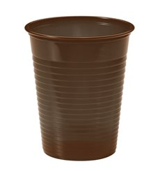 Vaso de Plastico Marrón PS 200ml (1500 Uds)