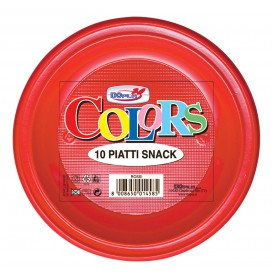Plato de Plastico Llano Rojo PS 280mm (30 Uds)