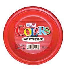 Plato de Plastico PS Llano Rojo Ø280mm (140 Uds)