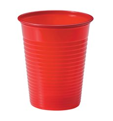 Vaso de Plastico Rojo PS 200ml (50 Uds)