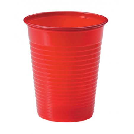 Vaso de Plastico Rojo PS 200ml (1500 Uds)