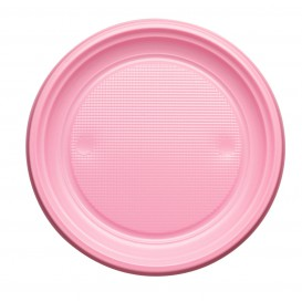 Plato de Plastico PS Llano Rosa Ø170mm (1100 Uds)