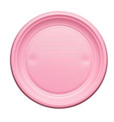 Plato de Plastico Llano Rosa PS 170mm (1100 Uds)