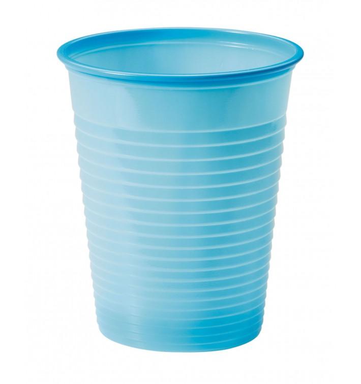 Vaso de Plastico PS Azul Claro 200ml Ø7cm (50 Uds)