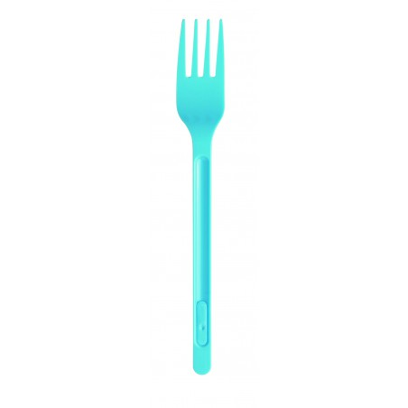 Tenedor de Plastico Azul Oscuro PS 165mm (20 Uds)