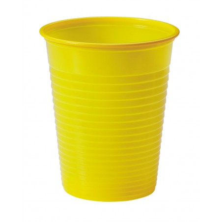 Vaso de Plastico Amarillo PS 200ml (50 Uds)