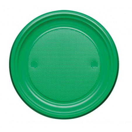 Plato de Plastico PS Llano Verde Ø170mm (1100 Uds)