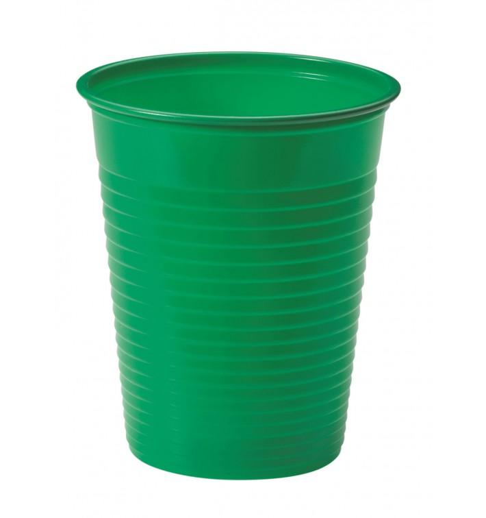 Vaso de Plastico PS Verde 200ml Ø7cm (50 Uds)