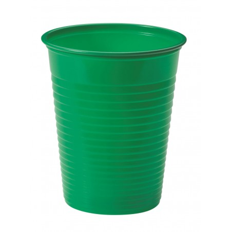 Vaso de Plastico Verde PS 200ml (50 Uds)