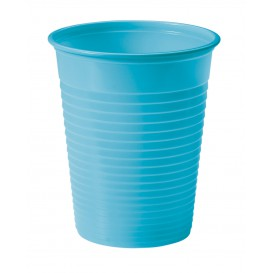 Vaso de Plastico PS Turquesa 200ml Ø7cm (50 Uds)