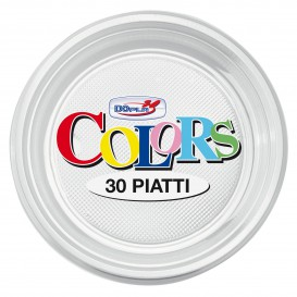 Plato de Plastico Hondo Transparente PS 220 mm (30 Uds)