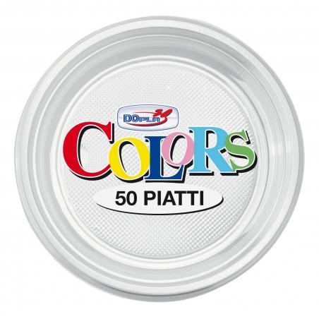 Plato de Plastico Llano Transparente PS 170mm (1100 Uds)