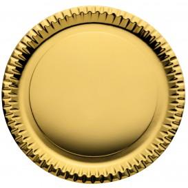 Plato de Carton Redondo Oro 290mm (6 Uds)