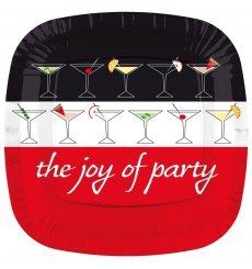 Plato de Carton Cuadrado '' Joy of Party'' 230mm (8 Uds)