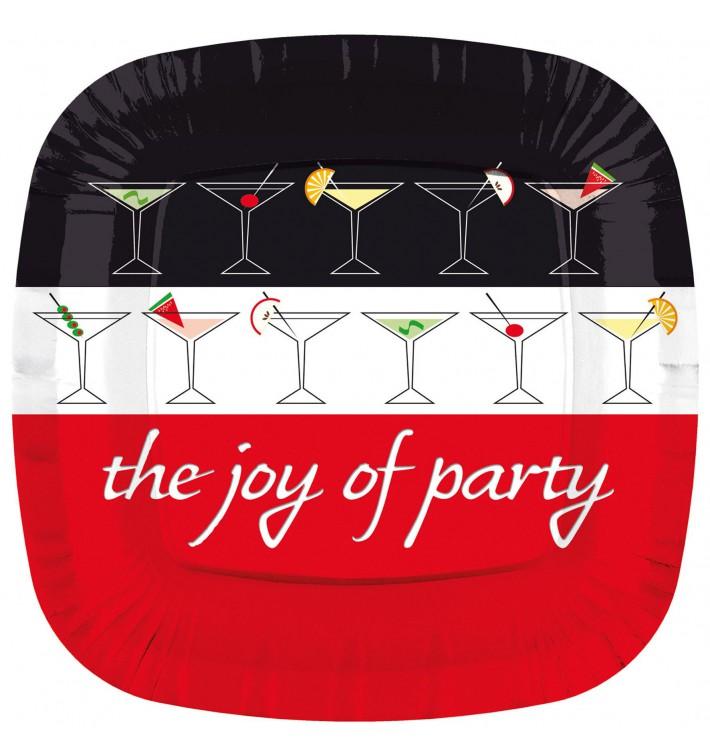 Plato de Carton Cuadrado '' Joy of Party'' 230mm (200 Uds)