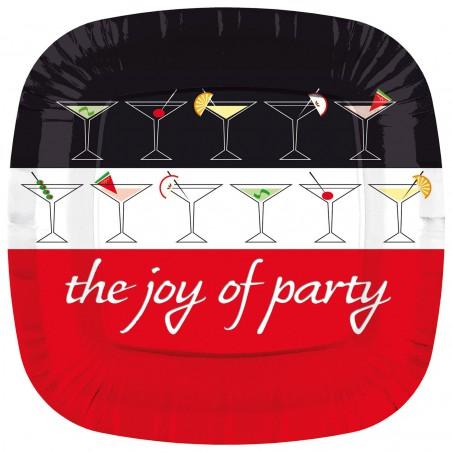 """Plato de Carton Cuadrado """"Joy of Party"""" 230mm (200 Uds)"""