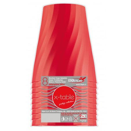 Vaso de Plastico Rojo PP 320ml (8 Uds)