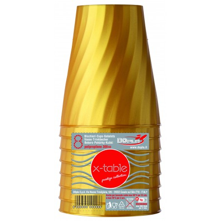 Vaso de Plastico Oro PP 320ml (128 Uds)