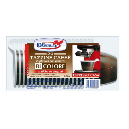Taza de Plastico Marron 100 ml (480 Unidades)