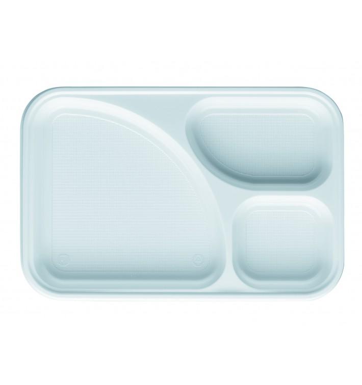 Bandeja de Plastico Blanca 3C 315x210mm (100 uds)