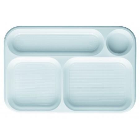 Bandeja de Plastico Blanca 4C 360x240mm (100 uds)