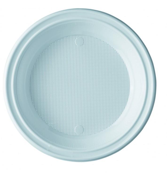 Plato de Plastico PS Hondo Blanco 205 mm (100 Uds)