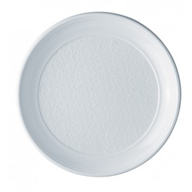 Plato de Plastico Llano Blanco PS 250 mm (800 Uds)