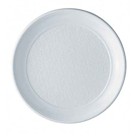 Plato de Plastico PS Llano Blanco 250 mm (800 Uds)