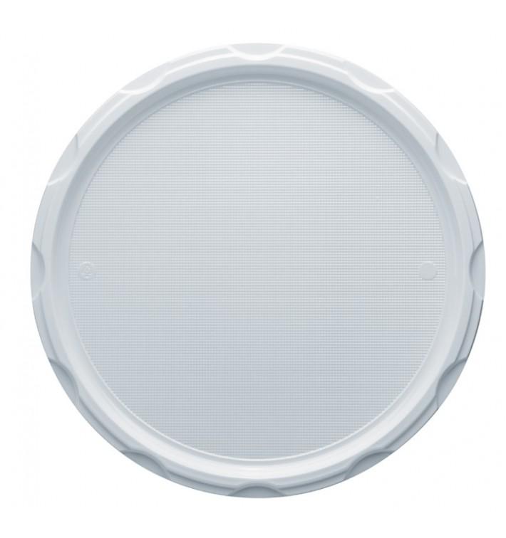 Plato de Plastico PS para Pizza Blanco 320 mm (100 Uds)