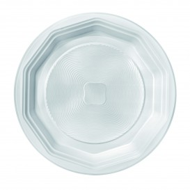 Plato de Plastico Hondo Blanco PS 220 mm (1600 Uds)