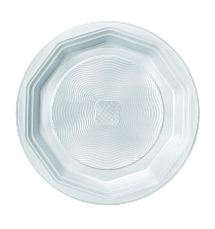 "Plato de Plastico PP Hondo Blanco ""Deka"" 220 mm (400 Uds)"