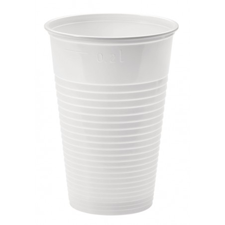 Vaso de Plastico Blanco PP 230ml (100 Uds)