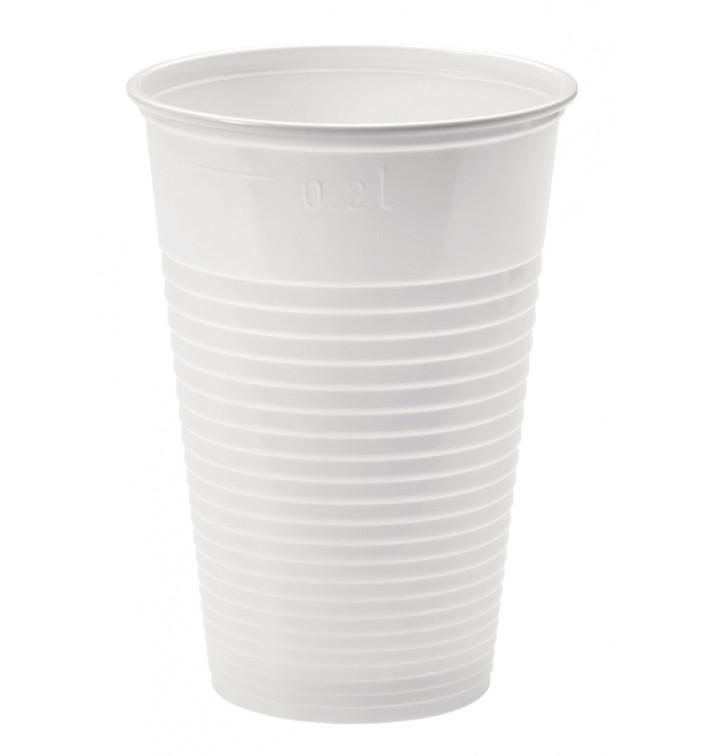 Vaso de Plastico Blanco PP 230ml (3000 Uds)