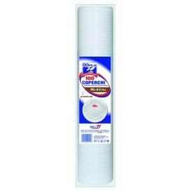 Tapa de Plastico Blanca para Vaso PS 80ml (100 Uds)