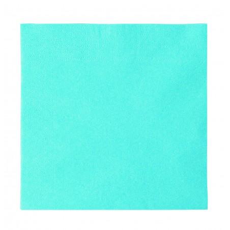 Servilleta de Papel 2 Capas Azul Claro 33x33cm (50 Uds)