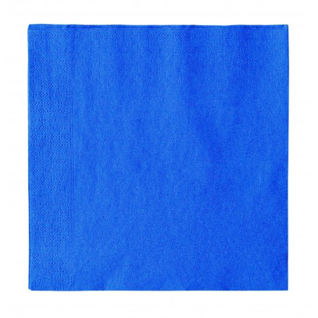 Servilleta de Papel 2 Capas Azul Oscuro 33x33cm (50 Uds)