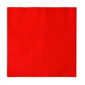 Servilleta de Papel 2 Capas Rojo 33x33cm (50 Uds)