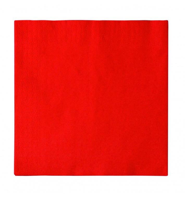 Servilleta de Papel 2 Capas Rojo 33x33cm (1200 Uds)