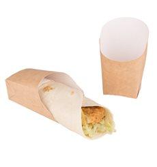 Envase Carton Kraft para Wraps 60x50x120mm (600 Uds)