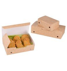 Caja Comida para Llevar Pequeña Kraft 115x72x43mm (750 Uds)