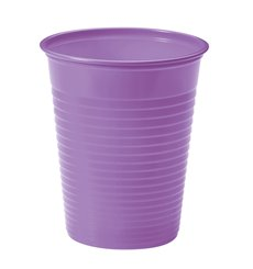 Vaso de Plastico Lila PS 200ml (50 Uds)
